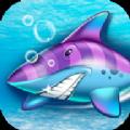 愤怒的深海鲨鱼